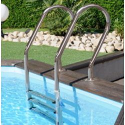 Scaletta inox per piscine in legno o interrate