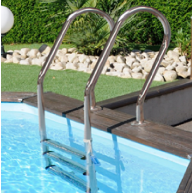 Scaletta inox per piscine in legno o interrate san marco - Scaletta per piscina ...
