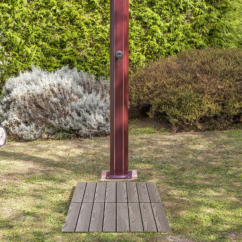 Base doccia solare modulare gre per piscine da giardino - Doccia da giardino solare ...