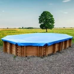 Copertura invernale Violette per piscine rotonde fuori terra Ø 455