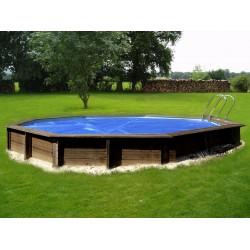 Copertura isotermica per piscina ovale 500x300