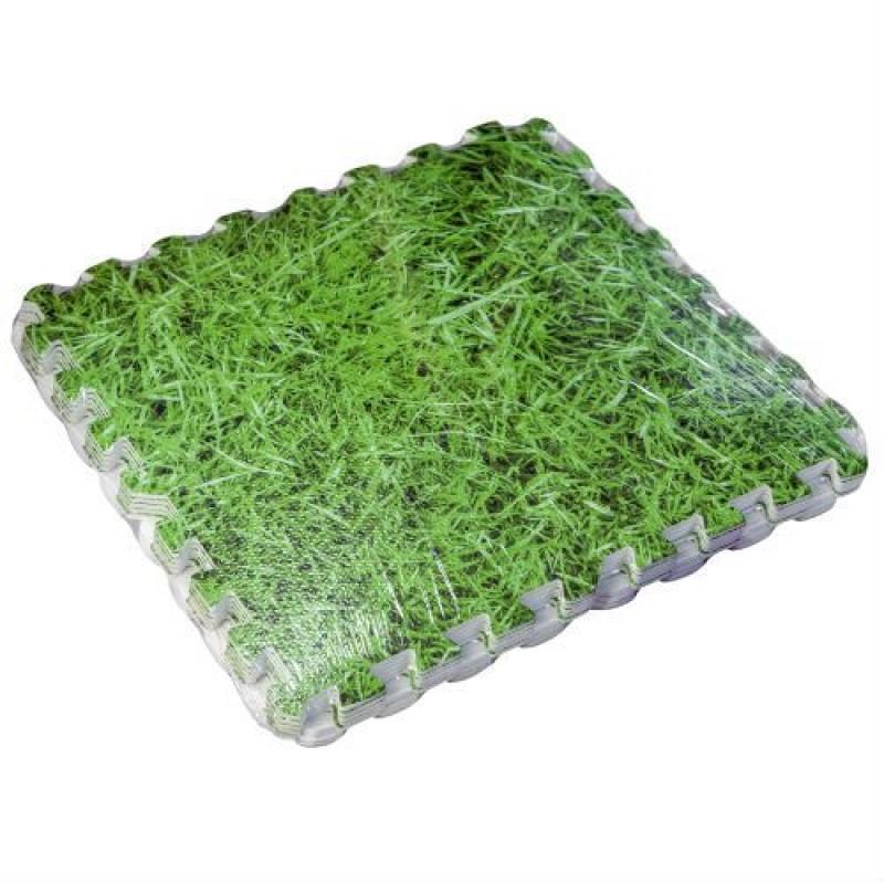 Tappeto puzzle stampato imitazione erba etilene vinil - Tappeto sottopiscina ...