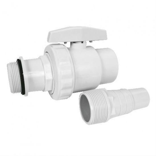 Valvola di chiusura 1 4 di giro 1 connettore diam 32 38 per kit di filtrazione san marco - Valvola chiusura acqua bagno ...
