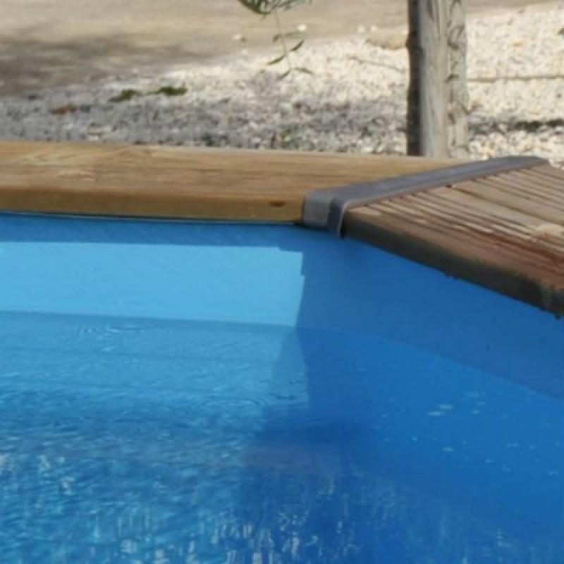 Liner overlap blu per piscina ovale 610x375 h 120 san marco for Liner piscina gre