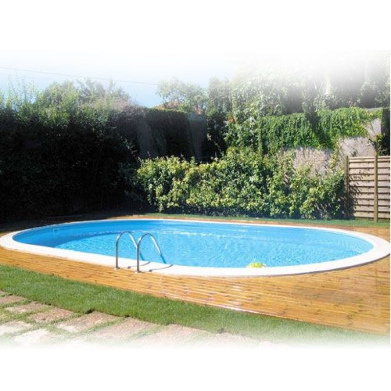 Piscina interrata gre ovale 600x320x150 cm san marco - Piscina interrata ...