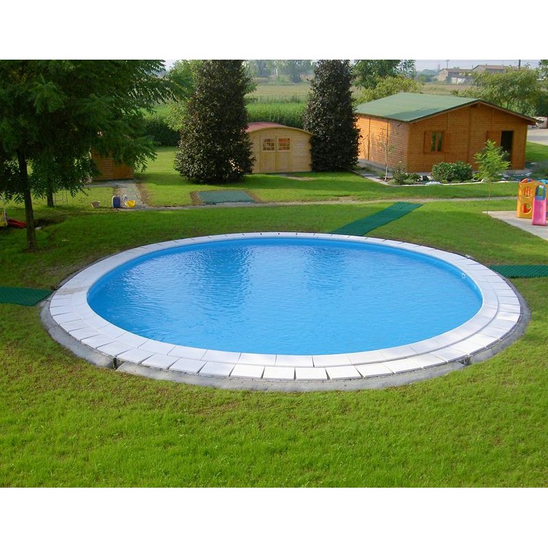 Piscina rotonda interrata gre 420x150 cm san marco - Piscina interrata ...