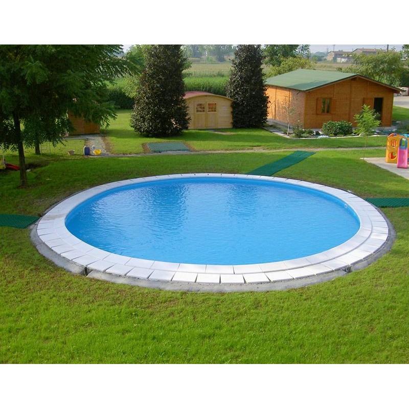 Piscina rotonda interrata 420x120 cm san marco for Piscina rotonda