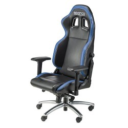 Poltrona ufficio Sparco modello r100s nero azzurro