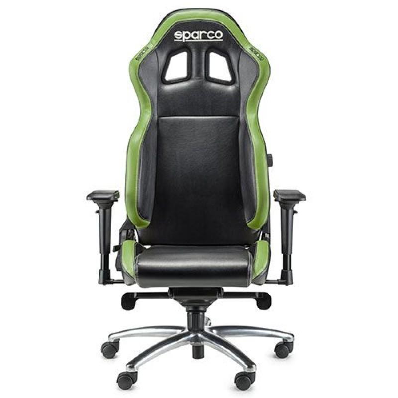 Poltrona ufficio racing sparco r100s nero verde san marco for Poltrona ufficio sparco