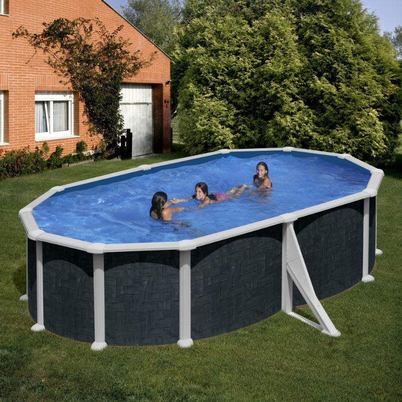 Piscina fuori terra gre ovale 500x350 cm san marco for Piscina fuori terra ovale