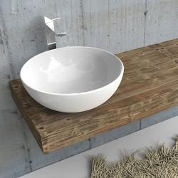 Mensola per lavabo in abete rustico con misure a scelta personalizzabili