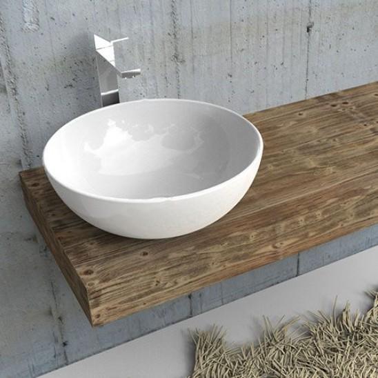 Mensola per lavabo in abete rustico arredo mobile bagno - Mensola lavabo ...