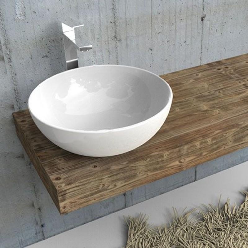Mensola per lavabo in abete rustico arredo mobile bagno mensolone in diverse lunghezze san marco - Misure lavabo bagno ...
