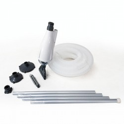 Kit pulizia piscine manuale con asta, tubo ed aspiratore