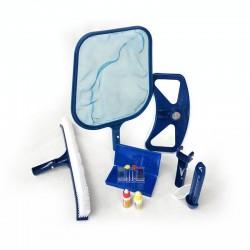 Kit di pulizia piscine San Marco per fondo e superficie con analisi acqua