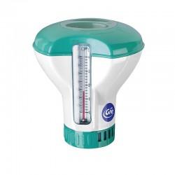 Dosatore cloro piscina Combi GRE per pastiglie da 20gr con termometro