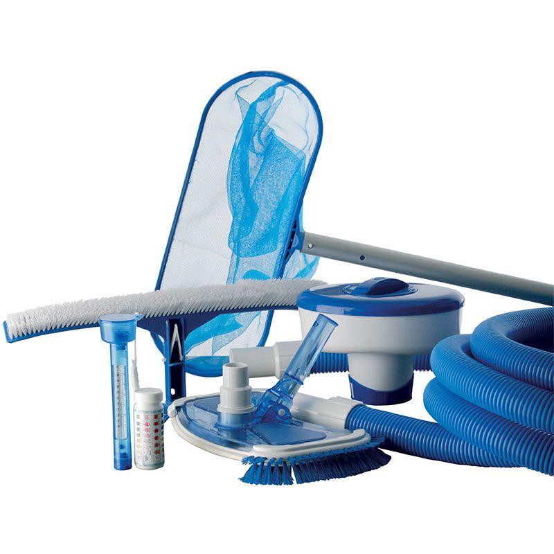 kit pulizia piscine gre compreso di accessori san marco