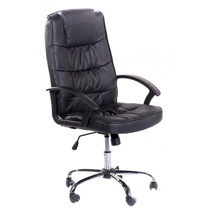 Poltrona ufficio in pelle nera roosevelt san marco for Outlet sedie ufficio