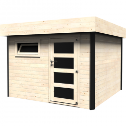 Casetta in legno quadrata 9m2 Ivan