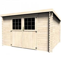 Casetta in legno rettangolare 326x298 cm Elena