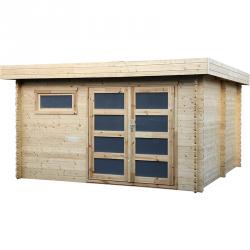 Casetta in legno quadrata 386x386cm Plutone