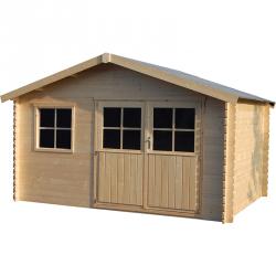 Casetta in legno rettangolare 400x298cm Fiori