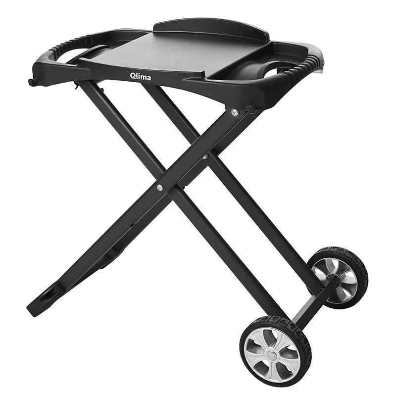 Carrello porta barbecue qlima light funzionale per barbecue portatili da tavolo e da appoggio - Barbecue a gas da tavolo ...