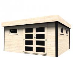 Casetta in legno rettangolare 450x400 cm Evelina