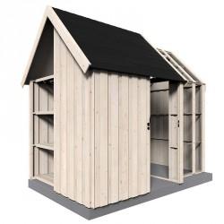 Capanna in legno rettangolare 315x200 cm Vito
