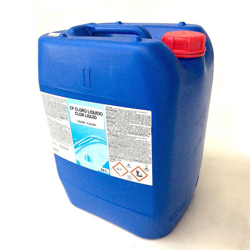 Cloro liquido gre da 20 lt per manutenzione piscina san for Cloro per piscine