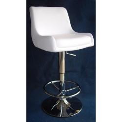2 Sgabelli bar easy chair imbottiti bianchi