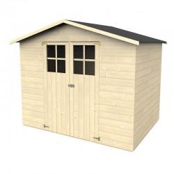 Casetta in legno Lidium rettangolare 242,4x182 cm