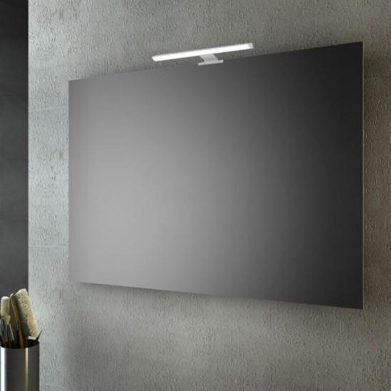 Specchio a filo lucido 100x70 cm con lampada led san marco for Marco 100x70