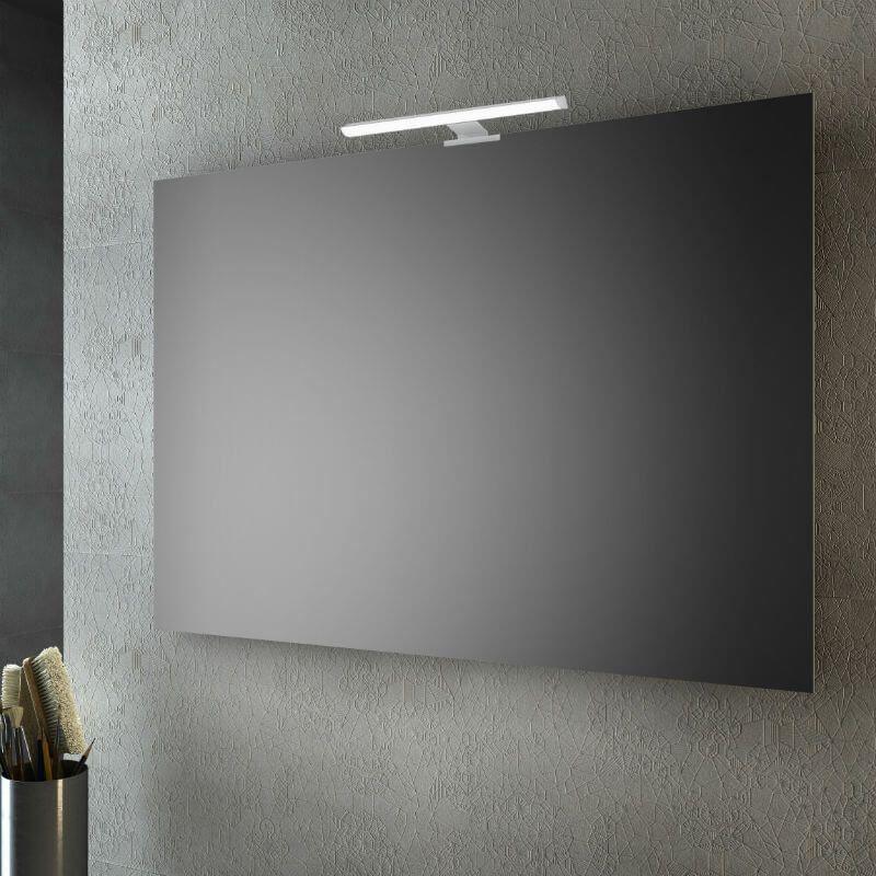 Specchio a filo lucido 100x70 cm con lampada led san marco for Specchio bagno brico