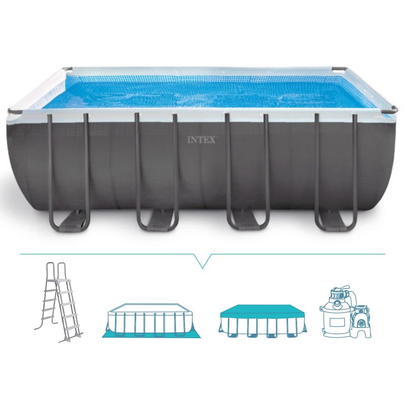 Piscina fuori terra intex ultra frame 549x274 26352np - Piscina intex 549x274x132 ...