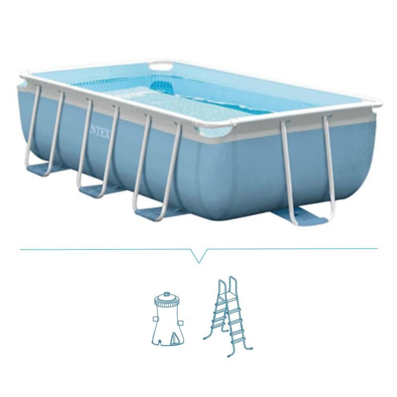 Piscina rettangolare intex filtro e scaletta 300x175cm - Filtro piscina intex ...