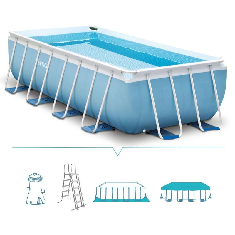Piscina fuori terra intex frame 488x244x107 cm san marco for Accessori piscine intex fuori terra