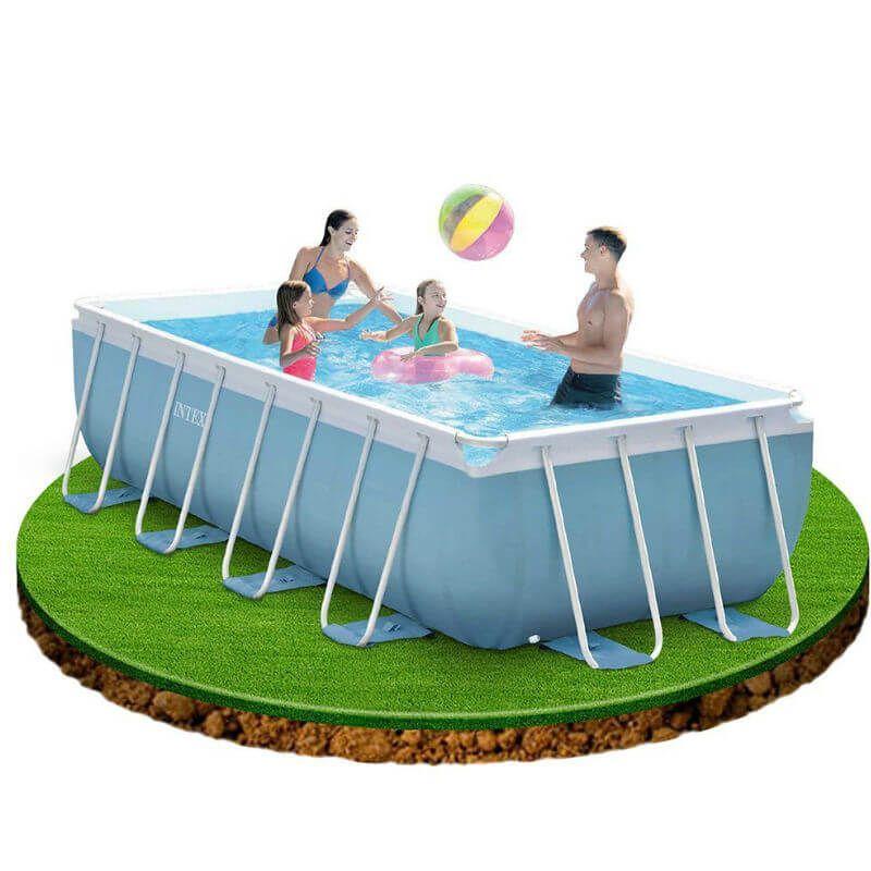 piscina intex frame prism 400x200 san marco. Black Bedroom Furniture Sets. Home Design Ideas