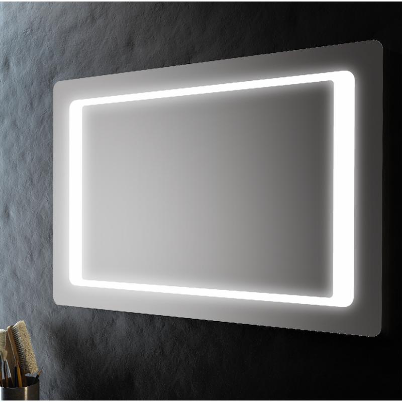 Specchio bagno cornice retroilluminata led 100x70 cm san for Specchio bagno led integrato