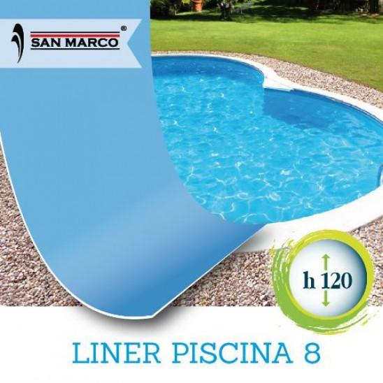 Liner a sacco per piscina a forma di otto 625x360x120 san marco - Liner per piscine ...