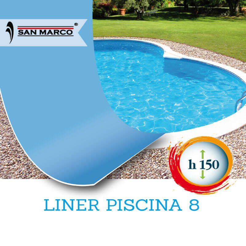 Liner interno piscina 625x360x150 con aggancio hung san for Liner per piscine