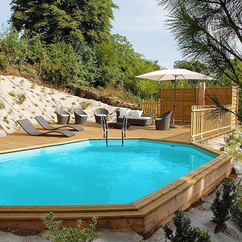 Piscina in legno ovale fuori terra avila da 942 cm san marco - Piscine fuori terra san marco ...