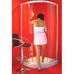 Box doccia 80x80 angolare con vetri temperati da 5 mm
