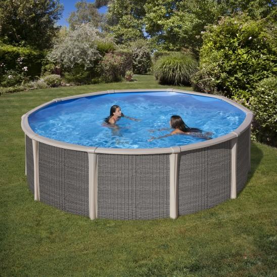 Copertura invernale vanille per piscine rotonde san marco for Copertura invernale piscina gre