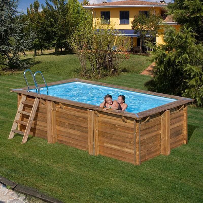 Piscina da giardino in legno evora da 600 x 400 cm san marco for Piscina in giardino