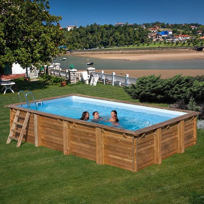 c82141fa4fcd Piscina da giardino in legno Marbella 400 x 250 cm   San Marco