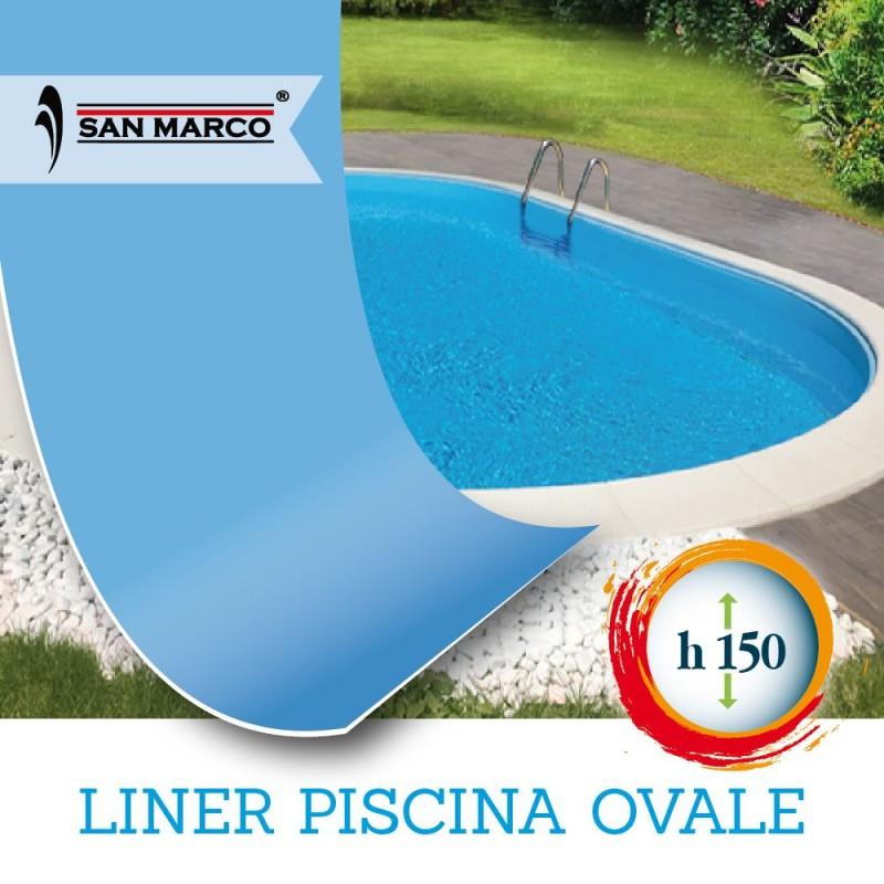 Liner per piscina ovale 800 x 400 h150 cm san marco - Liner per piscine ...