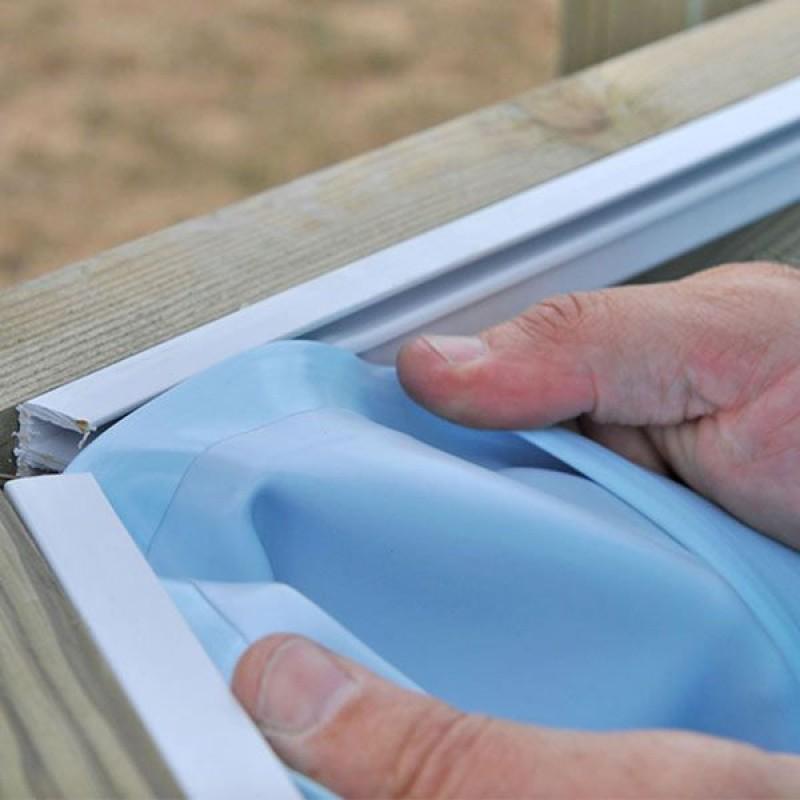Liner azzurro per piscina fuori terra rotonda 511 cm san for Liner per piscine