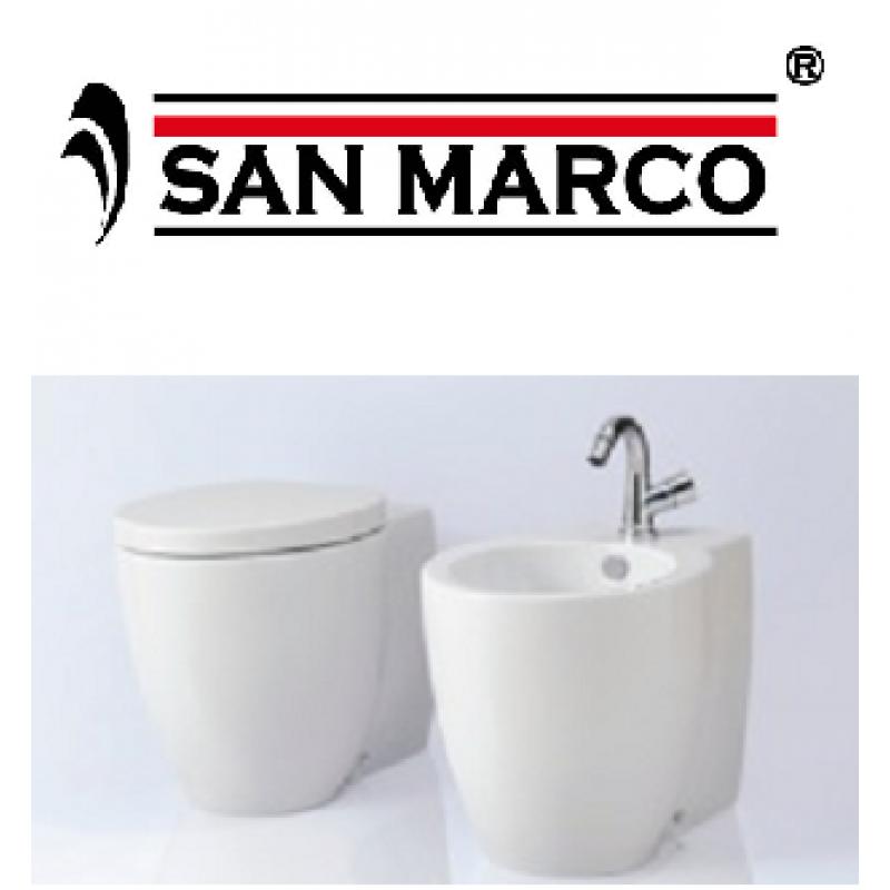 Sanitari bagno da terra azzurra ceramica full 54 san marco for Sanitari da bagno