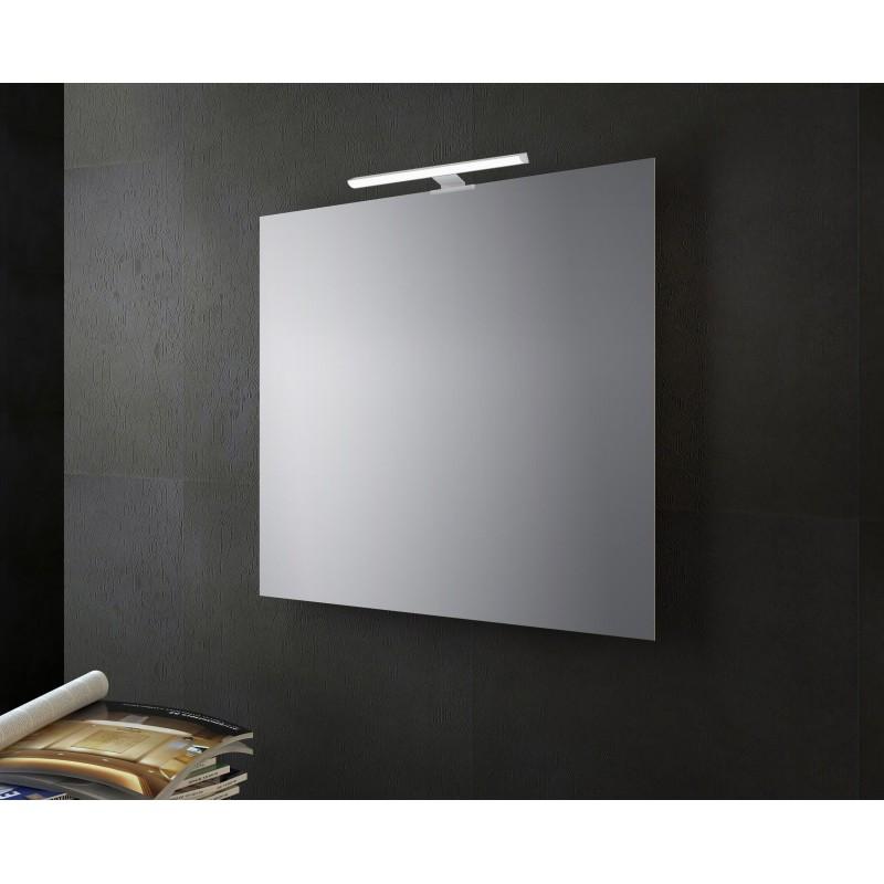 Specchio Bagno 60 X 60.Specchio Bagno A Filo Lucido Con Lampada Led 60x60 San Marco